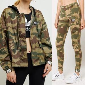 Adidas Women's Camo Set/ Leggings And Jacket XL